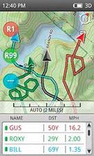 The Garmin Alpha GPS Home Screen