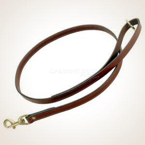 "Mendota 3/4"" x 6' Leather Flat Snap Leash"